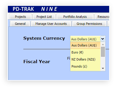 Selecting the System Currency for Portfolio Reporting